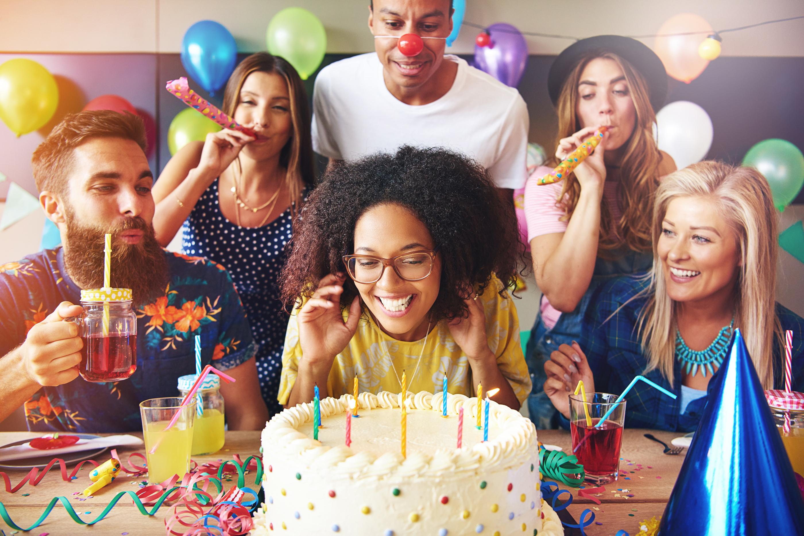 Happy People Celebrate Everything